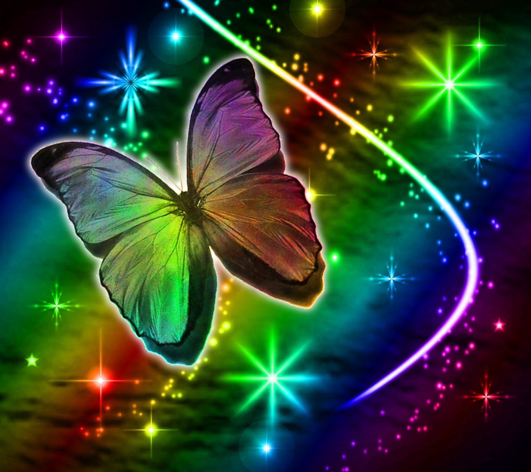 Cool Background For Health: 6 Butterflies